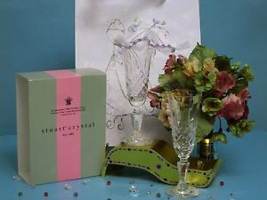 Stuart Crystal Chester Stemware Glasses Full Crystal Champagne Flutes NWT79USD