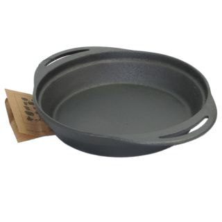 Old Mountain Pre Seasoned Cast Iron Pie Pan 12 in L x 9 5 in w x 2 in H 10161
