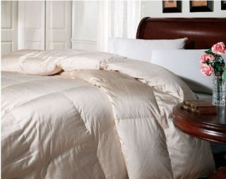Hotel Collection Gusseted Silk Blend GOOSE Down Comforter Full Queen