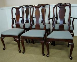 Ethan Allen Georgian Court Cherry Dining Chairs New Upholstery 11 6211 A