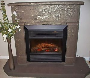 Antique Fireplace Mantel Dimplex Electric Fireplace Insert 1500W Heat 600 Sq