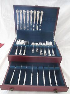 Gorham Chantilly Sterling Silver Flatware Set Service for 8 43 Pcs
