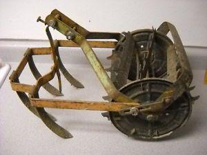 Vtg Antique Wood Metal Ro HO Garden Plow Cultivator Tiller Farm Tool Rowe Hoe