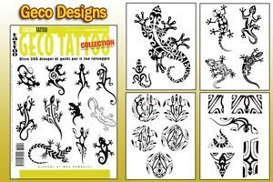 Geco Gecko Tattoo Flash Design Book 64 Pages Cursive Writing Art Supply