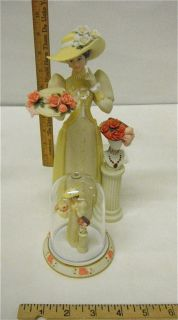 2005 Avon President's Club Sales Award Mrs Albee Porcelain Figurine 3 Piece Set