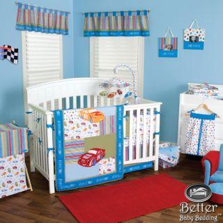 Trend Lab Baby Boy NASCAR Race Car Themed Crib Nursery Newborn Quilt Bedding Set