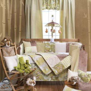 Glenna Jean Baby Boy Girl Jungle Safari Theme Crib Nursery Bed Quilt Bedding Set