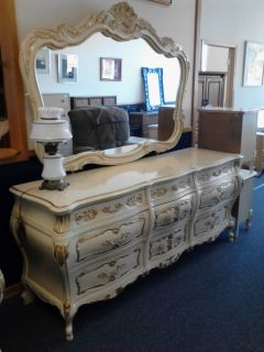 Master Bedroom Kimball Dresser Mirror and Armoire French Provincial Rossi Style