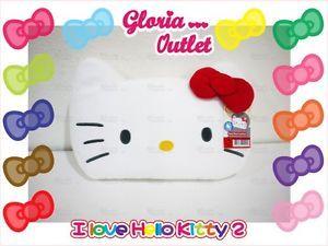 1 Hello Kitty Car Head Rest Cushion Plush Belt Seat Cover Mats Auto Accessories