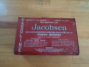 Vintage Jacobsen Power Mowers Outboard Motors Chainsaws 2 Cycle Gas Can Oil Can