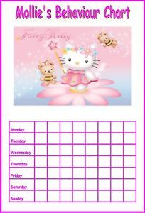 Personalised Hello Kitty Behaviour Reward Chart