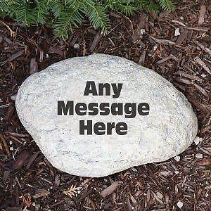 Personalized Memorial Small Garden Stone