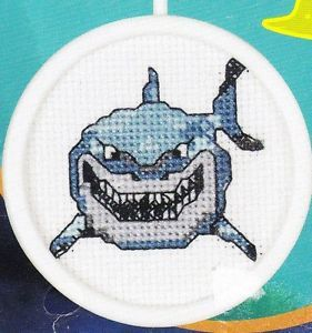 Bruce The Shark Beginner Counted Cross Stitch Kit Disney New Finding Nemo