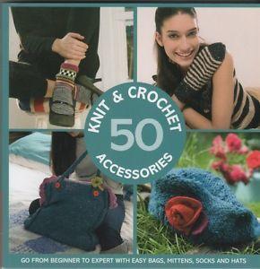 50 Knit Crochet Accessories Knitting Pattern Book Fair Isle Hats Beret Socks