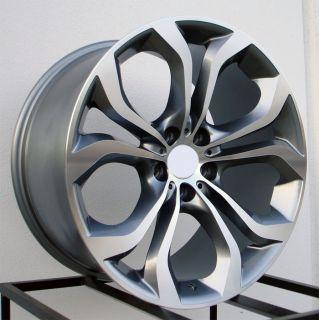 "20"" x5 Style Gunmetal Machined Face Wheels Rims Fits BMW x5 E53 E70"