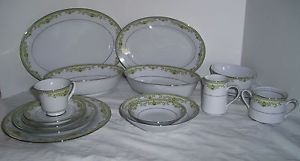 Vintage 90 Piece 12 Noritake Raleigh Fine China Dinnerware Dish Set 1973 1984