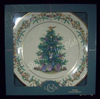 Lenox Christmas Trees Around The World Plate Italy 1997