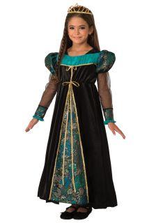 Girls Black Camelot Princess Costume