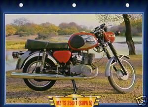 MZ TS 250 1 Supa 5 1978 Motorcycle Big Photo Motorrad