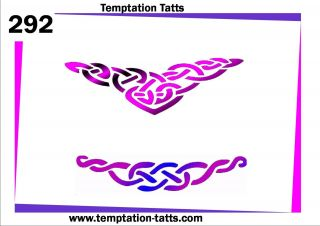 Celtic Necklace Temporary Tattoo Stencil NO292