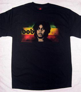 "Bob Marley ""Reggae Flag"" Black T Shirt Medium and Large Zion Rootswear"