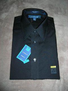 Croft Barrow Broadcloth Solid Black Long Sleeve Casual Dress Shirt $36 NWT