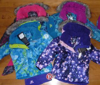 Girls ZeroXposur Winter Coat Ski Jacket Size XS 4 5 Purple Hood Bubble Blue
