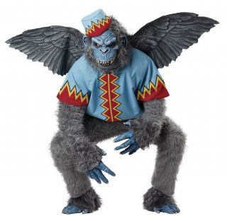 01301 Flying Monkey Wizard of oz Scary Villain Mens Halloween Costume M L XL