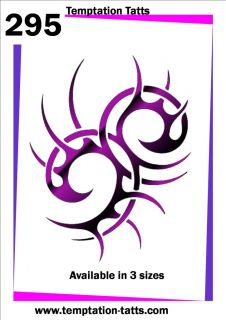 Large Celtic Tribal Temporary Tattoo Stencil NO295