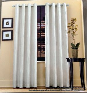 Bed Bath Home 84' Venice Grommet Window Panels White Panel Curtains Drapes