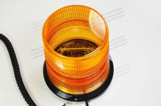 "6 1"" 12V 48V Magnetic Warning Strobe Light Amber Beacon Truck Snow Plow"