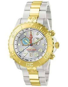 Invicta Men's 6512 Ocean Quest Yachting Edition Gold Plated Silver Dial Watch