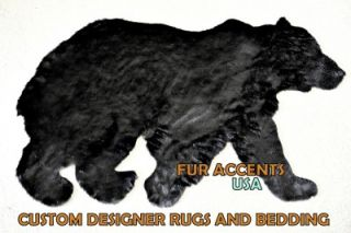 3' Faux Fur Indian Chief Head Accent Rug Mink Bear Deer Hide Unique Feathers New