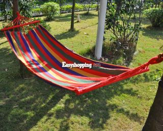 "76"" x 31""Quilted Fabric Double Spreader Bar Outdoor Camping Hammock ES9P US SHIP"