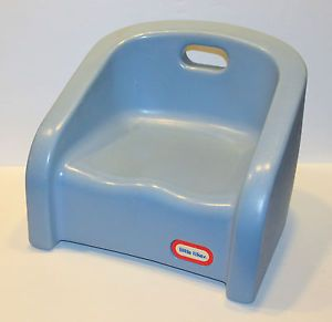 Vintage Little Tikes Blue Booster Seat Hard Plastic High Chair Toddler