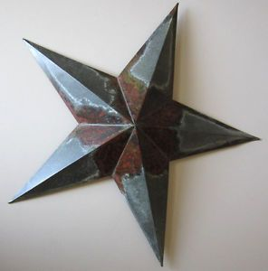 Large Metal Star Wall Hanging On Popscreen