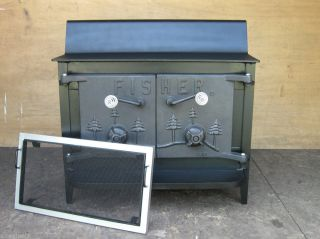 Fisher wood stove baby bear wood stove for Whole house wood furnace