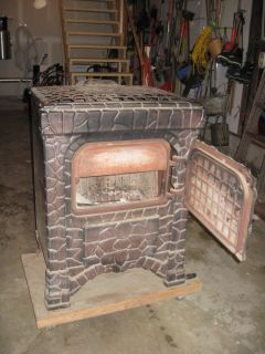 Antique Parlor Wood Coal Stove