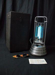 vintage sun kraft home tanning ultraviolet therapy lamp light set. Black Bedroom Furniture Sets. Home Design Ideas