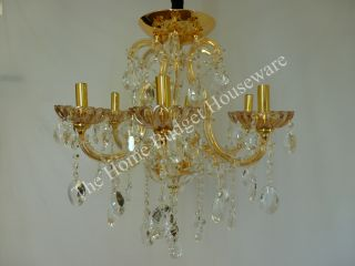 "24"" x 22"" Interior Ceiling Chandelier Lighting Fixture Dinning Room 61 Crystal"