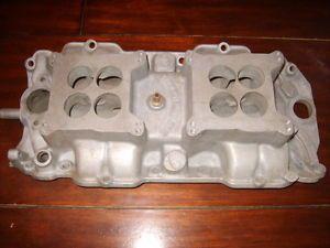 Offenhauser Big Block Chevrolet Dual Quad Intake Manifold Oval Port