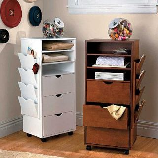 Recollections mobile 9 drawer organizer rolling cart for Rolling craft storage cart