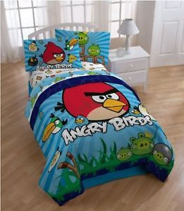 Angry Birds Kids Room Comfortable Twin Bedding Sheet Set