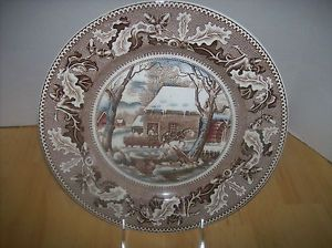 Johnson Brothers China Historic America Pink Pattern Dinner Plate