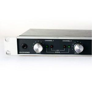 Crown D 75 Stereo Power Amp Vintage Studio D75 Amplifier 1U Rack Mount