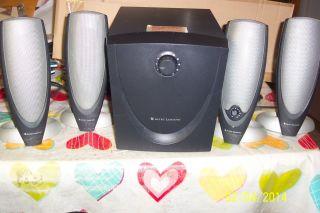 5 PC Altec Lansing ADA745 Speaker System w Subwoofer for Repair or Parts 021986960010