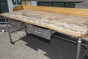 Kitchen Equipment Lot 2 Warmers Crescor Epco Wood Block Prep Table