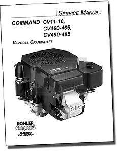 Genuine Kohler Small Engine Repair Manual for Models CV11 CV495 TP 2339 D New