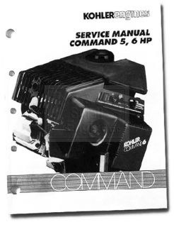 Genuine Kohler Small Engine Repair Manual Command Models CH5 CH6 TP 2337 A New