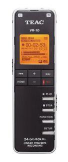 Teac Tascam VR 10 Handheld Portable Digital WAV  Audio Recorder w 2GB SD Card